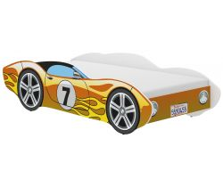 Detská posteľ Wooden Toys Corvetta Flames Yellow