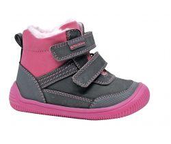 Detská zimná barefoot obuv Protetika Tyrel Grey