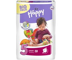 Plienky Bella Baby Happy Junior 5 (12-25 kg) 58 ks