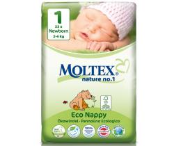 Plienky Moltex Newborn 1 (2-4 kg) 23 ks