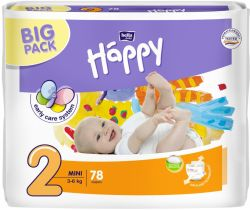 Plienky Bella Baby Happy Mini 2 (3-6 kg) 78 ks