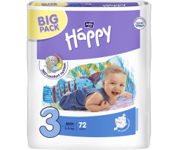 Plienky Bella Baby Happy Midi 3 (5-9 kg) 72 ks