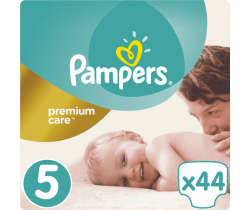Plienky Pampers Premium Care Junior 5 (11-16 kg) 44 ks
