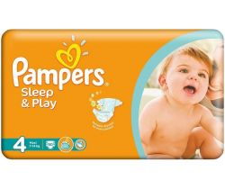 Plienky Pampers Sleep&Play Maxi 4 (7-14 kg) 50 ks