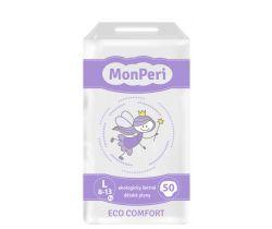 Detské plienky 50 ks 8-13 kg Monperi Eco Comfort L