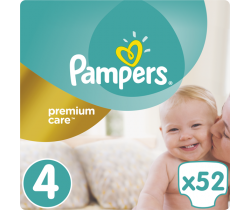 Plienky Pampers Premium Care Maxi 4 (9-14 kg) 52 ks