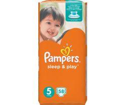 Plienky Pampers Sleep&Play Junior Jumbo Pack 5 (11-18 kg) 58 ks