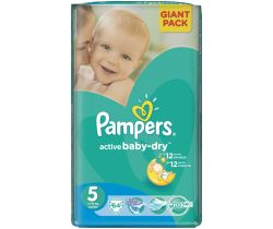 Plienky Pampers Giantpack Junior 5 (11-16 kg) 64 ks