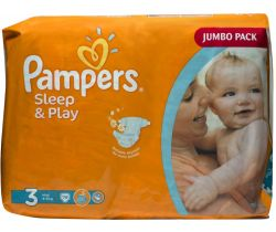 Plienky Pampers Sleep&Play Jumbo Pack Midi 3 (4-9 kg) 78 ks