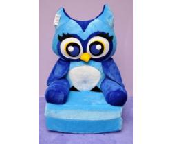 Detské plyšové kresielko Smyk 2v1 Blue Owl