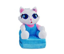 Detské plyšové kresielko Smyk 2v1 Cat Blue