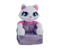 Detské plyšové kresielko Smyk 2v1 Cat Grey