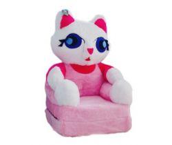 Detské plyšové kresielko Smyk 2v1 Cat Pink