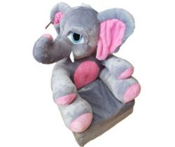 Detské plyšové kresielko Smyk 2v1 Elephant