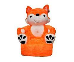 Detské plyšové kresielko Smyk 2v1 Orange Fox