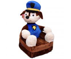 Detské plyšové kresielko Smyk 2v1 Policeman Dog