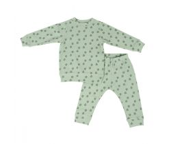 Detské pyžamo Lodger Sleeper Print Rib Silt Geen