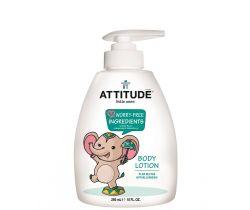 Detské telové mlieko s vôňou hruškovej šťávy s pumpičkou Attitude 300 ml doprodej
