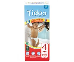 Detské trénovací plienkové nohavičky Tidoo T4  Maxi 8/15kg (38ks)