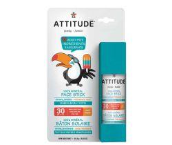 Detská 100% minerálná ochranná tyčinka na tvár a pery 18,4g bez vôňe Attitude