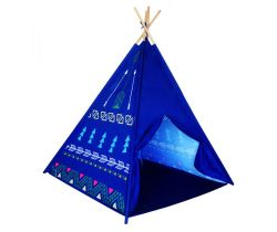 Detský indiánsky stan EcoToys Dark Blue