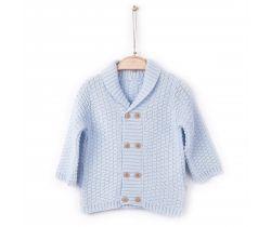Pletený sveter Kitikate Lokta Blue