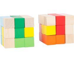 Drevená farebná skladacia kocka 1 ks Small Foot