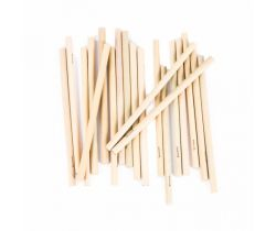 Dlhá bambusová slamky Bamboolik 20ks