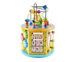 Drevená edukačná kocka Wooden Toys