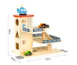Drevená garáž s výťahom a čerpacou stanicou EcoToys