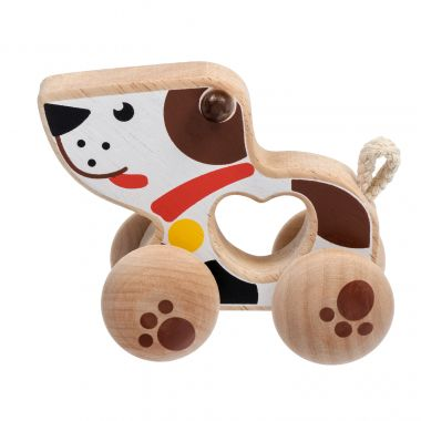 Drevená hračka Lucy & Leo Dog on Wheels