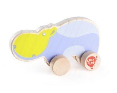 Drevená hračka Lucy&Leo Hippo on Wheels