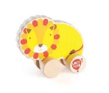 Drevená hračka Lucy&Leo Lion on Wheels