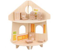 Drevená hračka Lucy & Leo Round Doll House