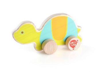 Drevená hračka Lucy&Leo Turtle on Wheels