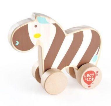 Drevená hračka Lucy&Leo Zebra on Wheels