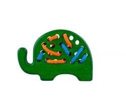 Dřevěná hračka přešívanka Lupo Toys Elephant