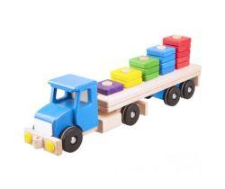 Drevená hračka s kockami 1-5 Lupo Toys Lorry