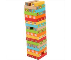 Drevená Jenga veža Lucy & Leo Guess Who
