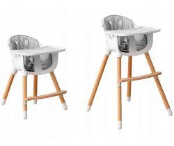 Drevená jedálenská stolička 2v1 EcoToys