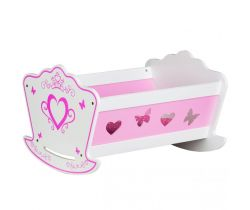 Drevená kolíska pre bábiky EcoToys Pink