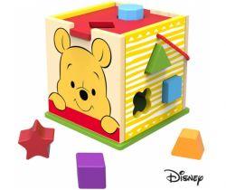 Drevená kocka s tvarmi Derrson Disney Medvedík Pú