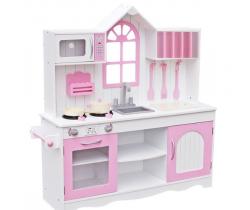 Drevená kuchynka Wooden Toys Retro Pink