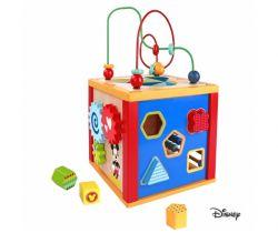Drevená multifunkčné kocka 5v1 Derrson Disney Mickey