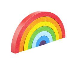 Drevená skladacia hračka Lobito Rainbow