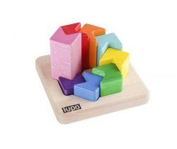 Drevená skladacia pyramída Lupo Toys Fish