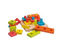 Drevená skladačka puzzle 28ks 24m+ Jouéco