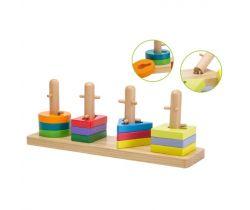 Drevená skladačka puzzle Jouéco