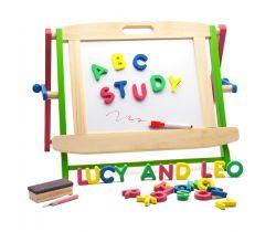 Drevená vzdelávacie tabuľa Lucy&Leo