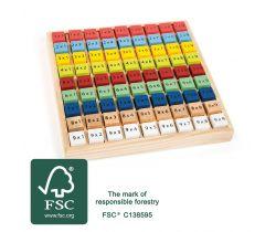 Drevená vzdelávací tabuľka Small Foot Násobilka